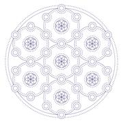 Mandala in ethnic style Stock Illustration