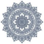 Mandala in ethnic style - stock illustration