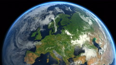 Europe from space. Zoom to Europe. Earth From Space. - stock footage
