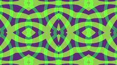 Green purple background, zigzag symmetry, loop - stock footage