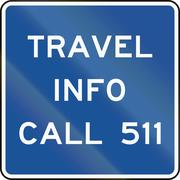 Stock Illustration of United States MUTCD guide road sign - Travel info call 511