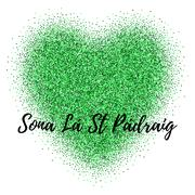 Glitter, confetti St. Patrick Day template Stock Illustration