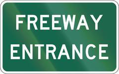 United States MUTCD road sign - Freeway Entrance Stock Illustration