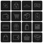 Stock Illustration of Icons purchase, vector illustration.