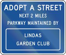 United States MUTCD road sign - Adopt a street Piirros