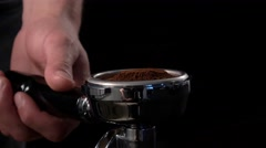 Fresh ground coffee Stock Footage