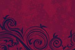 Decorative Floral Grunge Background - stock illustration