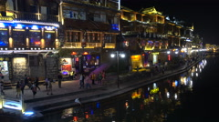 Stock Video Footage of China nightlife, tourism, travel, party, karaoke bars, nightclubs, old village