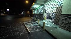 Store Burglary Damage 03 - stock footage