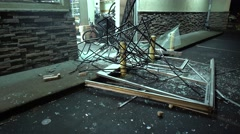 Store Burglary Damage 02 Stock Footage