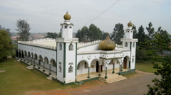 mosque in Fort Portal, Uganda. - stock footage