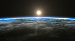 Sunrise from space. Earth from space. - stock footage