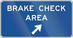 United States MUTCD guide road sign - Brake check area - stock illustration