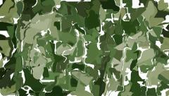 Abstract green camouflage background - stock footage