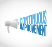 continuous improvement megaphone loudspeaker - stock illustration