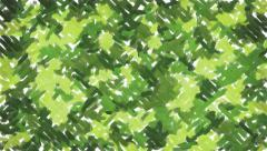 Green painting camouflage background - stock footage