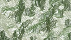 Hand drawn green camouflage background - stock footage