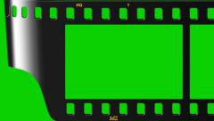 Montage of green film strip Stock Footage