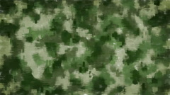 Moving pixel camouflage background Stock Footage
