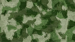 Animated dashes camouflage background Stock Footage