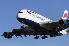 British Airways Airbus A380 Stock Photos