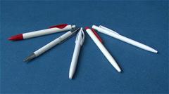 Ballpoint pens Stock Footage