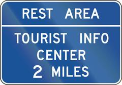 United States MUTCD guide road sign - Rest area - stock illustration