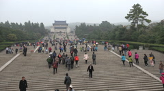 China tourism, Nanjing Sun Yat sen memorial, landmark, history, politics Stock Footage