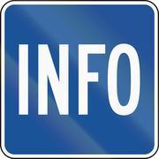 United States MUTCD road sign - Info - stock illustration