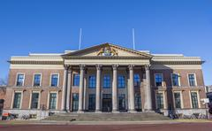 Front of the courthouse in Leeuwarden Stock Photos
