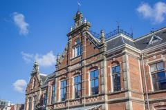 Facade of the historical new orphanage in Leeuwarden Stock Photos