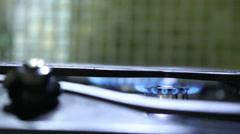 Burning hot plates; focus transfer from one to another Stock Footage