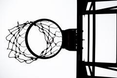 Old basketball hoop - stock photo
