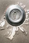 Old key hole at car Stock Photos