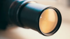 camera lens zoomng - stock footage