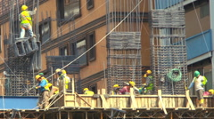 Construction Workers Building a High Rise in Quito, Ecucador - stock footage