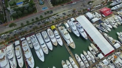Aerial video 2016 Miami Boat Show Stock Footage