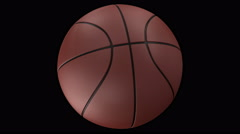 4K Seamless Looping Animation of Basketball balls on different background Stock Footage