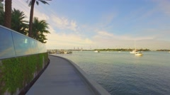 Biscayne Bay Path Stock Footage