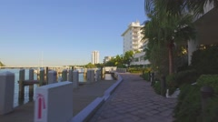 Biscayne Bay Path Miami Beach - stock footage