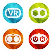 Set icons of virtual reality Stock Illustration