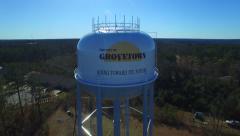 Grovetown GA Aerial Water Tower Pan Stock Footage