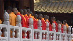 China religion, Buddhist temple, state controlled, Buddhist monks Stock Footage