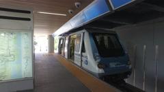 Brickell Metromover departing - stock footage