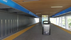 Brickell Metromover station Stock Footage