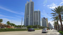 Collins Avenue Sunny Isles - stock footage