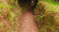 Trekking through a Ravine - stock footage