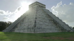 Chichen itza temple no people Stock Footage