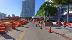 Construction West Avenue Stock Footage