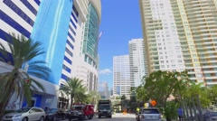 Driving on Brickell Bay Drive Stock Footage